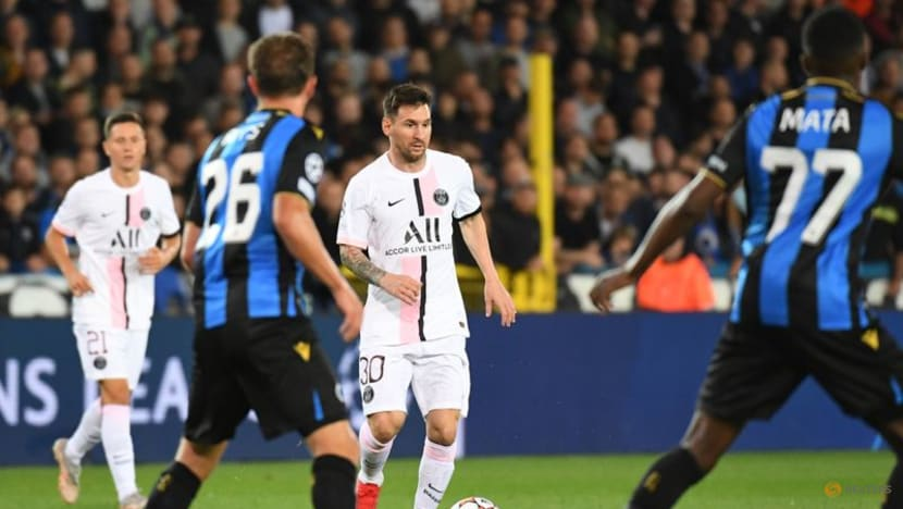 Football: Messi's Paris St Germain disappoint in Brugge draw