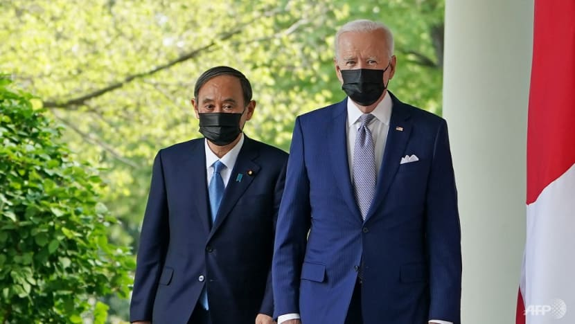 Biden commends Japan's Suga for successful Olympics