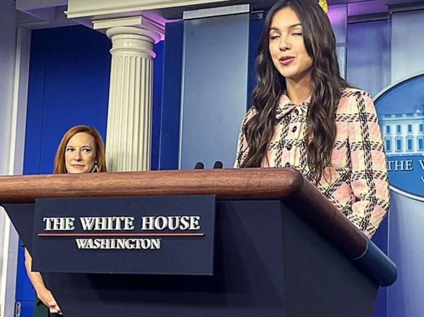 In White House visit, singer Oliva Rodrigo urges vaccinations for youth
