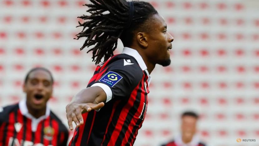 Football:Nice crush Bordeaux to go second in Ligue 1