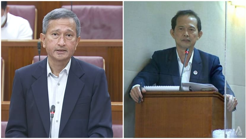 Vivian Balakrishnan apologises to Leong Mun Wai for 'private comments' made during Parliament session