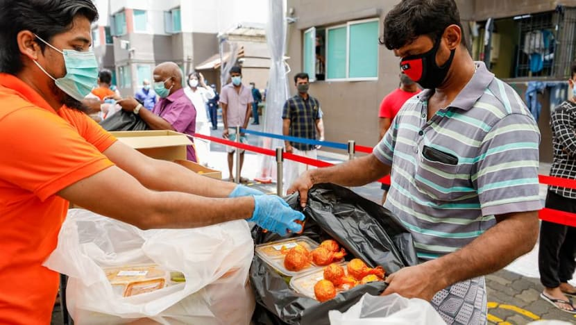 Festive treats given to foreign workers for Tamil and Bengali New Year