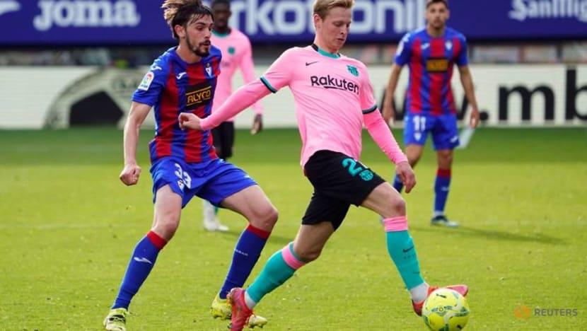 Soccer-Griezmann strike secures third place for Barca in La Liga
