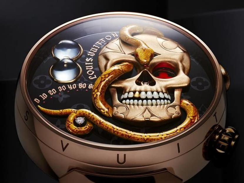 Louis Vuitton's new skull-and-snake watch wants you to stare death in the face