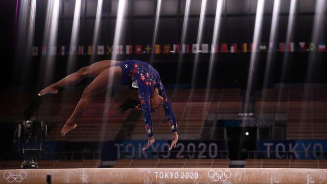 退出多场体操决赛后  美国名将拜尔斯确认参与平衡木决赛