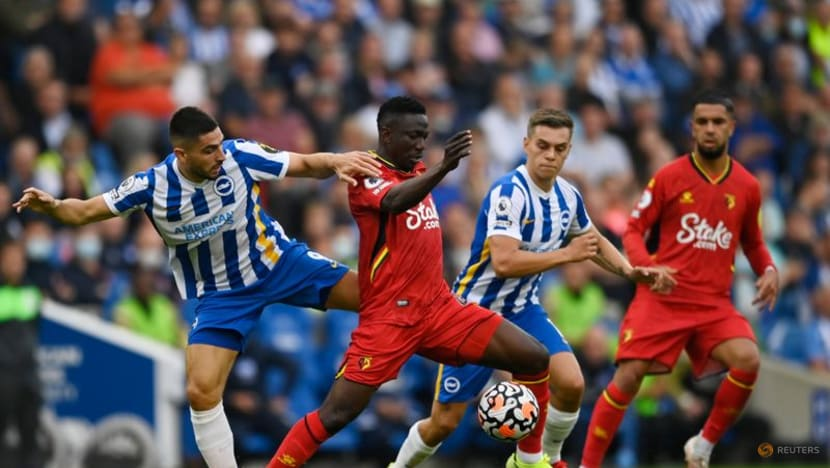 Soccer-Liverpool and Brighton joint top, Man City rebound