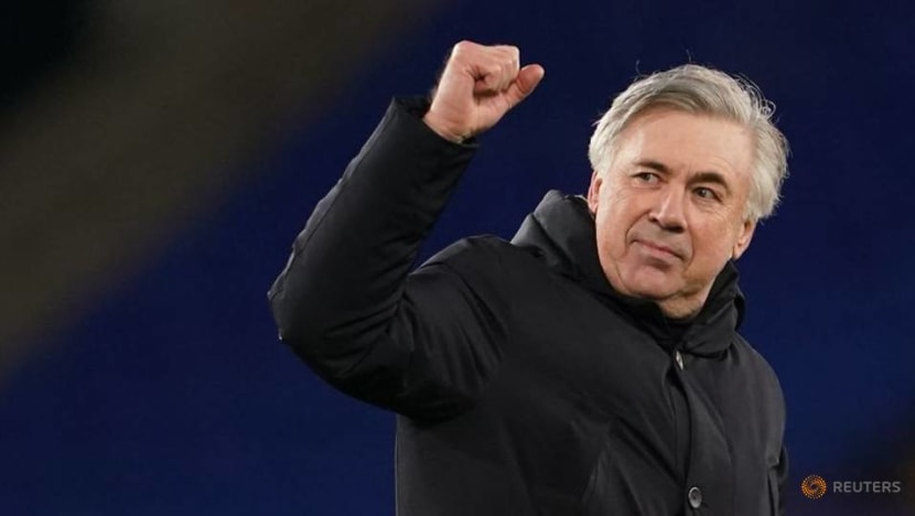 Football: Ancelotti happy with quality of squad after Everton go second