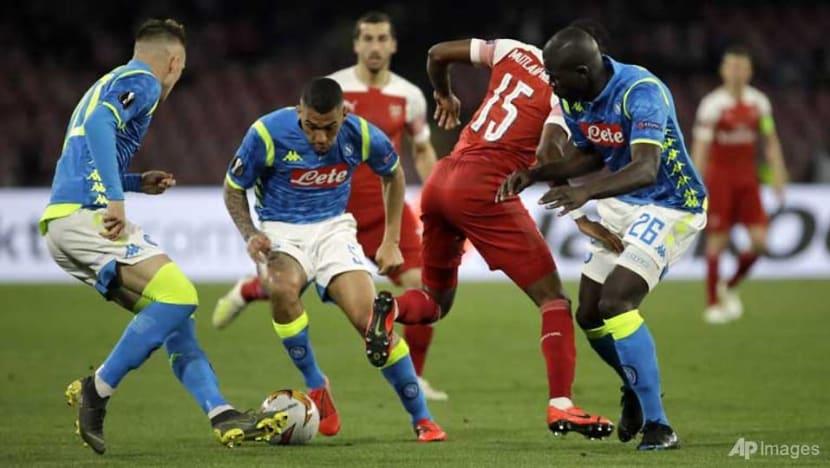 Football: Arsenal edge out Napoli to reach Europa League semi-finals