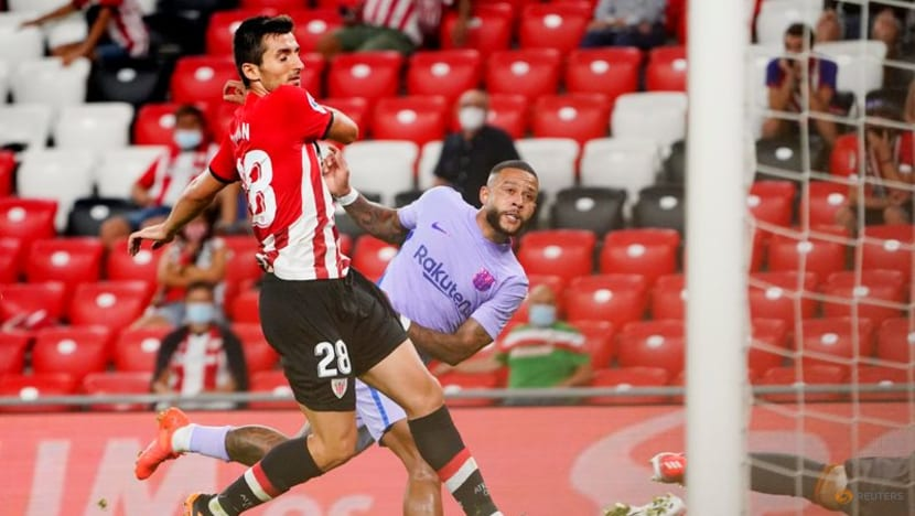Football: Depay thunderbolt earns Barca point at Athletic Bilbao