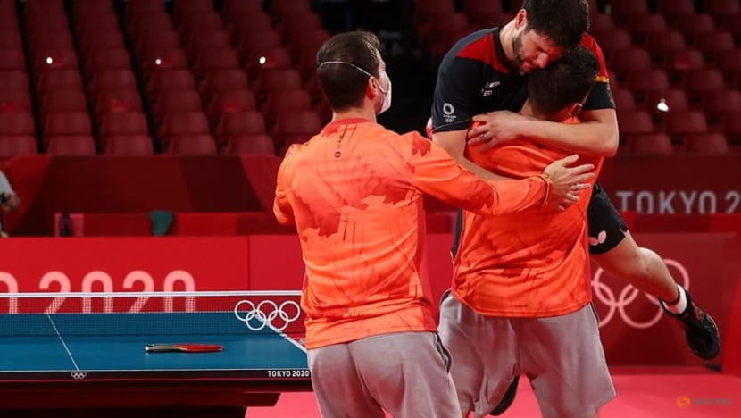 Olympics-Table Tennis-Germany overjoyed after dramatic men's team win