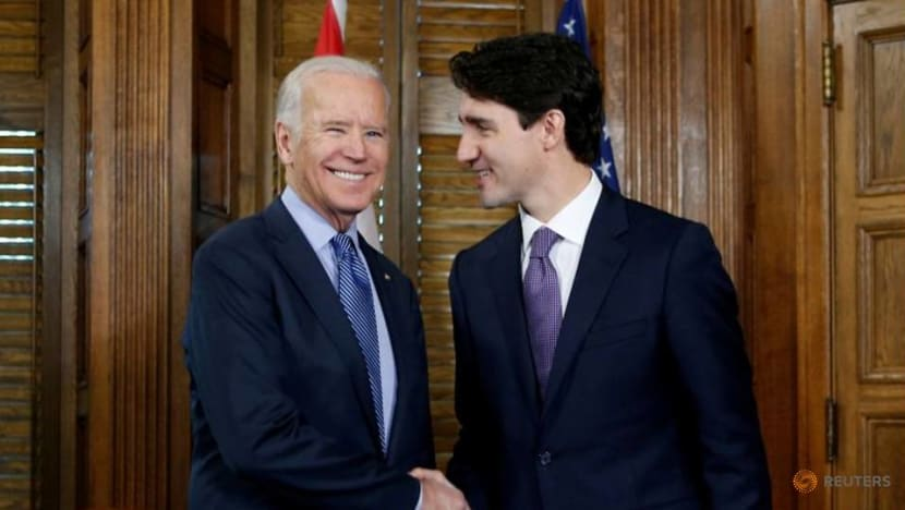 Canada's Trudeau embraces Biden in bid to turn page on Trump era