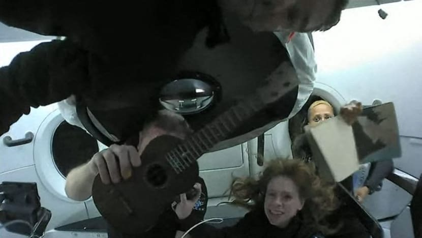 A ukulele in space? SpaceX crew member shows a playful side in orbit