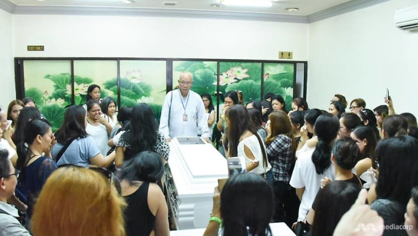 Lucky Plaza accident: Emotional scenes as family, friends attend wake of victim Arlyn Nucos in Singapore