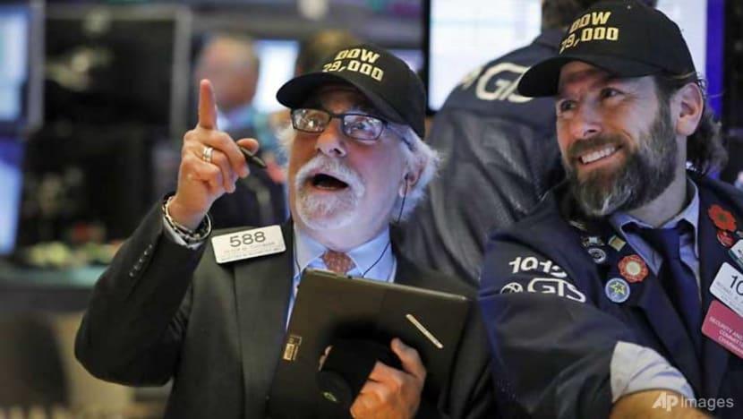 US stocks end at records on international trade deal progress