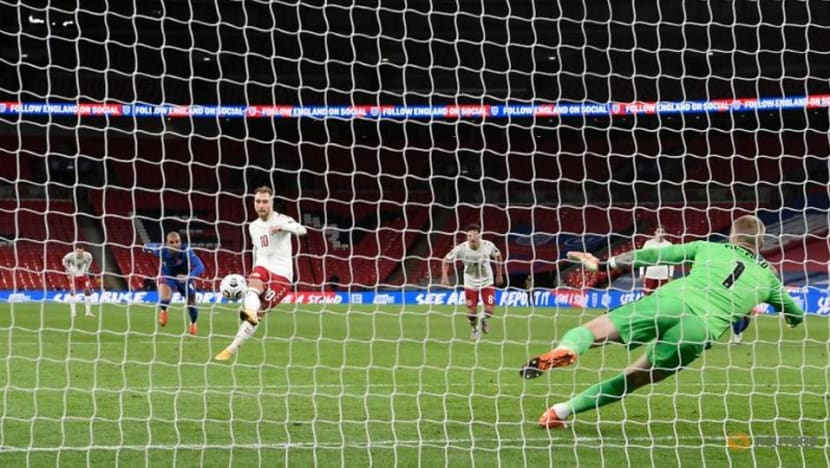 Football: Eriksen penalty earns Denmark win over 10-man England