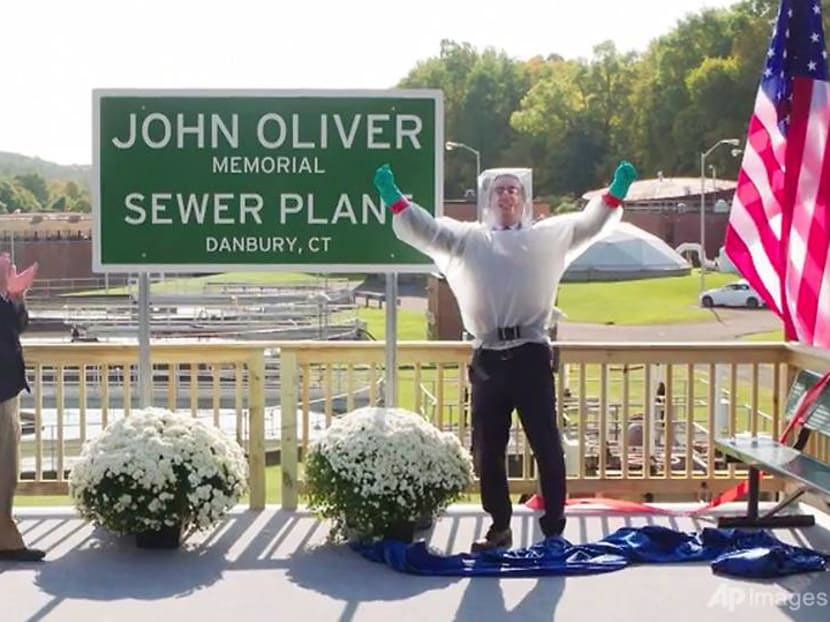 Comedian John Oliver now has a sewage treatment plant named after him