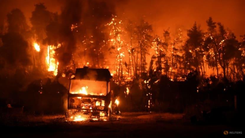 Blaze ravages Evia island 'like a horror movie' on sixth day of Greek fires