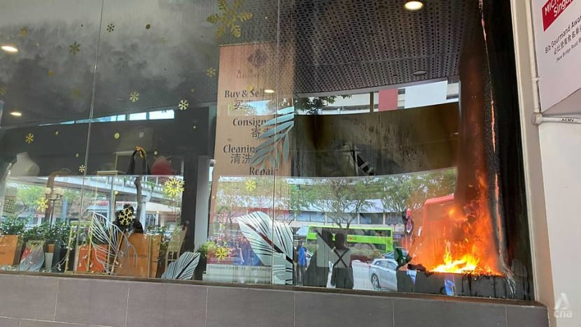 Shoppers evacuated from Chinatown Point after fire breaks out at luxury handbag shop
