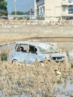 Flood-hit Japan