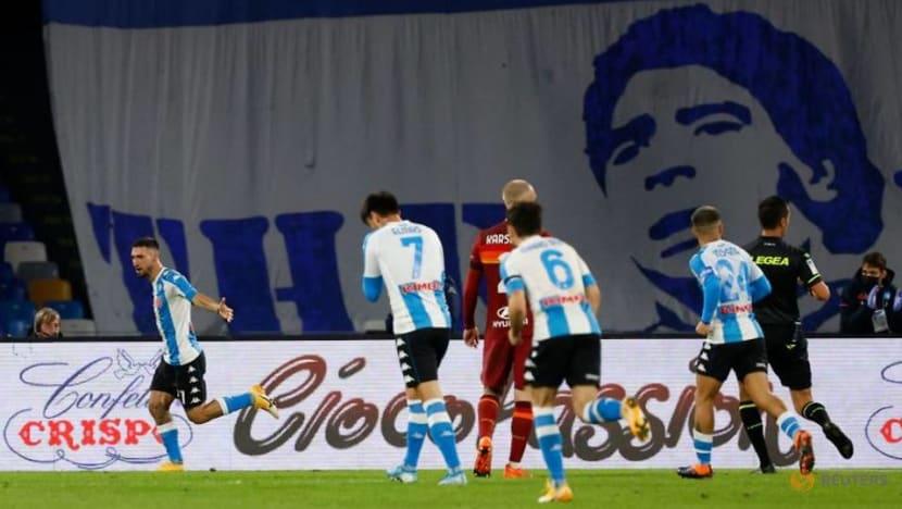 Napoli pay tribute to Maradona with four-goal win over Roma