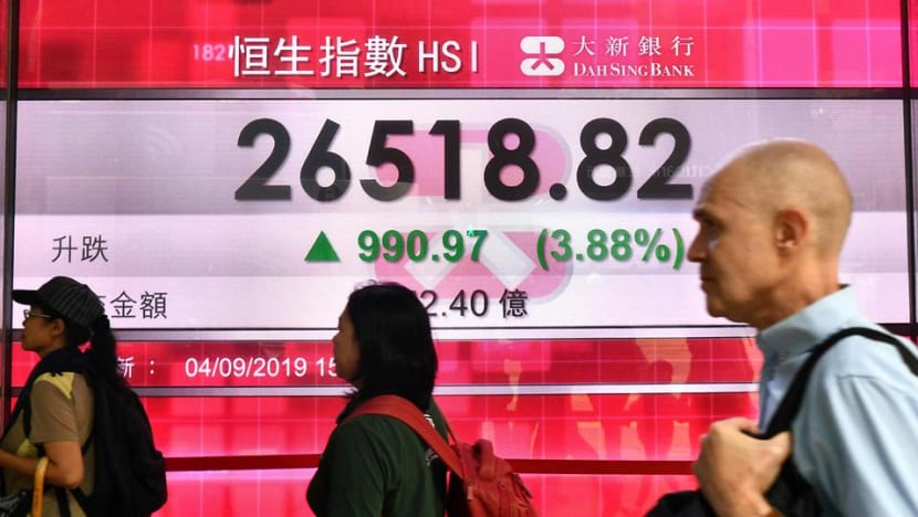 Hong Kong shares jump to 1-month high on news that Carrie Lam will withdraw controversial Bill
