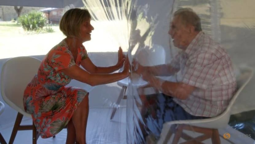 Cuddling in COVID-19: 'Hug bubble' lets seniors feel the magic of touch