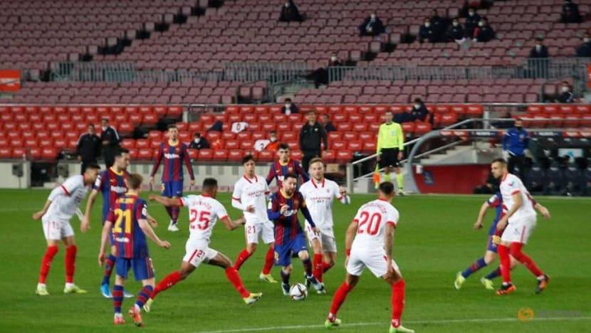 Football: Barca reach Copa final with epic comeback win over Sevilla