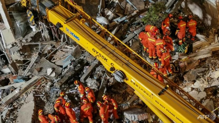 At least 8 dead in hotel collapse in China's Suzhou