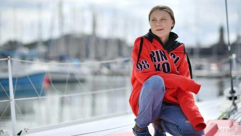 Teenage activist Greta takes climate campaign to the high seas