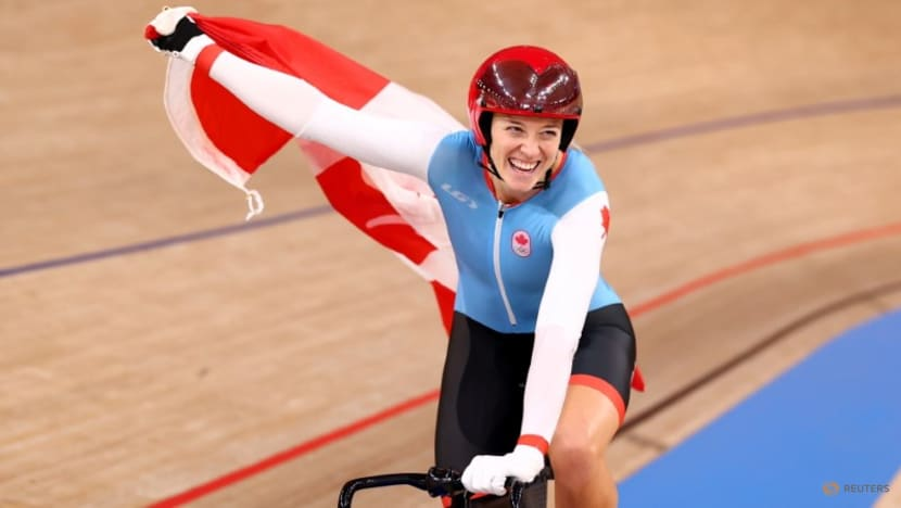 Olympics-Cycling-Canada's Mitchell cruises to women's sprint gold