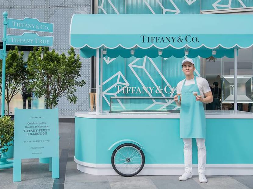 It's not breakfast but there's free ice cream at Tiffany's as it celebrates modern love