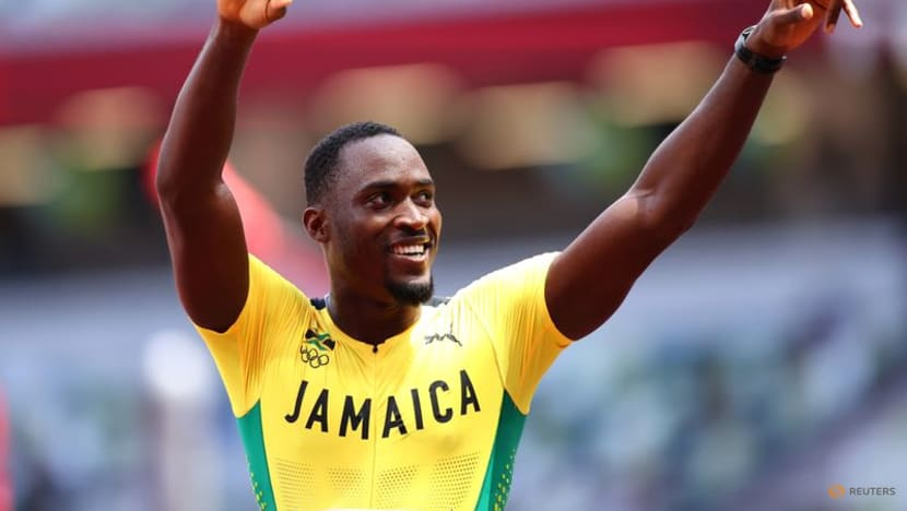 Olympics-Athletics-Jamaican Parchment shocks Holloway to win 110m hurdles