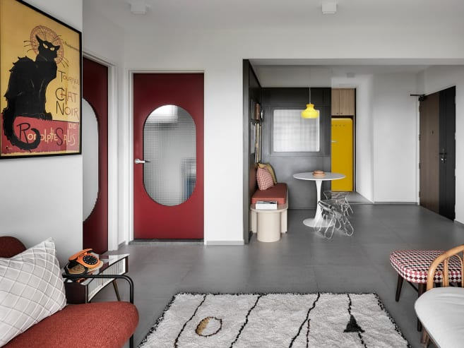 A 3-room BTO flat where Art Deco meets a touch of nostalgia