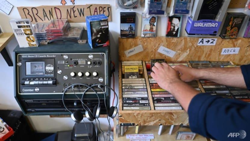 UK's last cassette shop reels in nostalgic music lovers