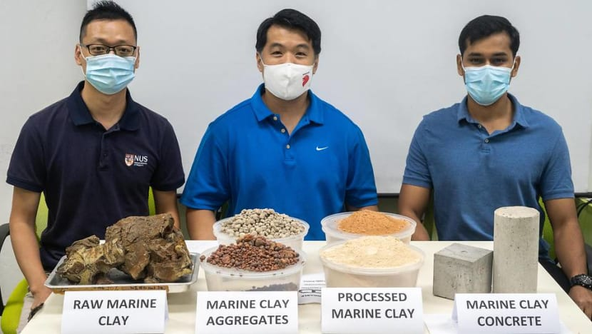 NUS team uses local waste clay to make more durable concrete that is up to 50% greener