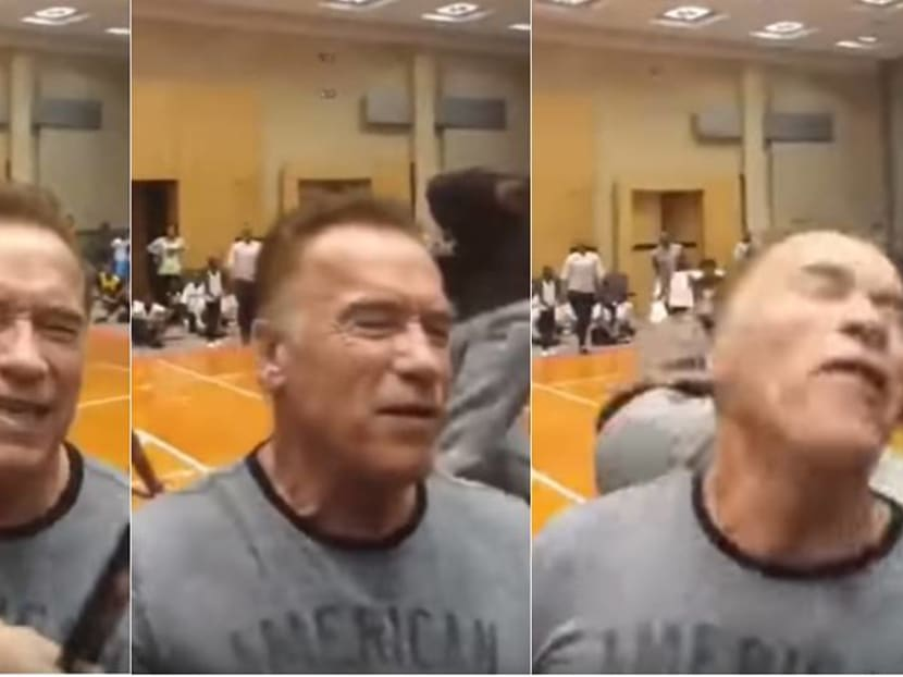 Arnold Schwarzenegger attacked at South Africa sports event