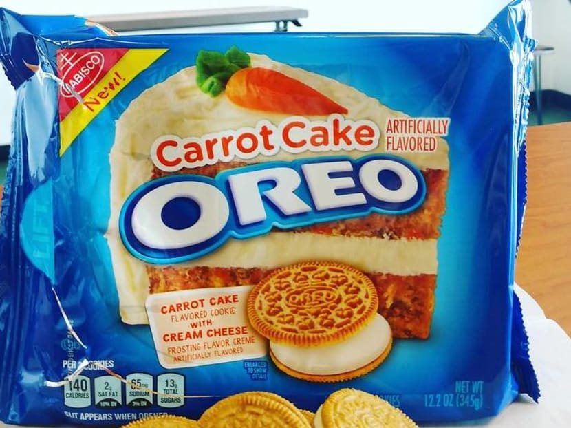 Carrot Cake Oreos – no, not chai tow kway – introduced in the US