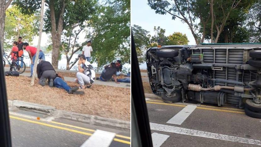 5 taken to hospital after accident along Bedok Reservoir Road
