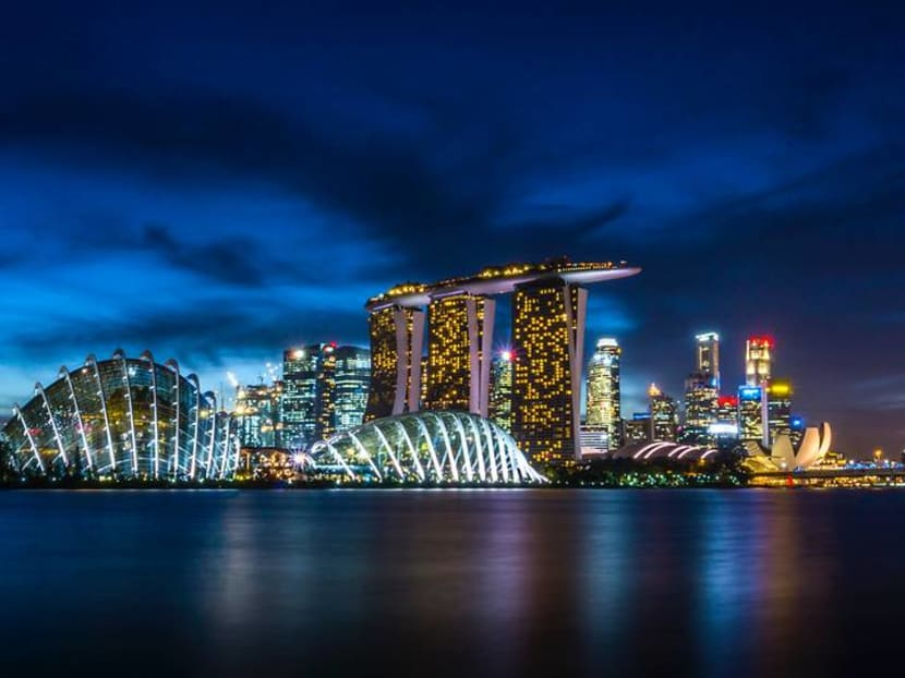Singapore landmarks turn blue to raise awareness of mental health during COVID-19