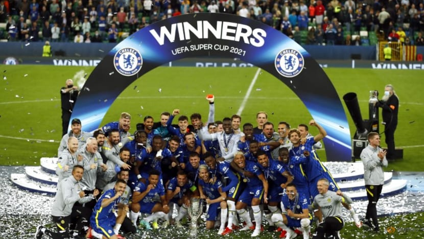 Football: Chelsea add UEFA Super Cup to Champions League trophy