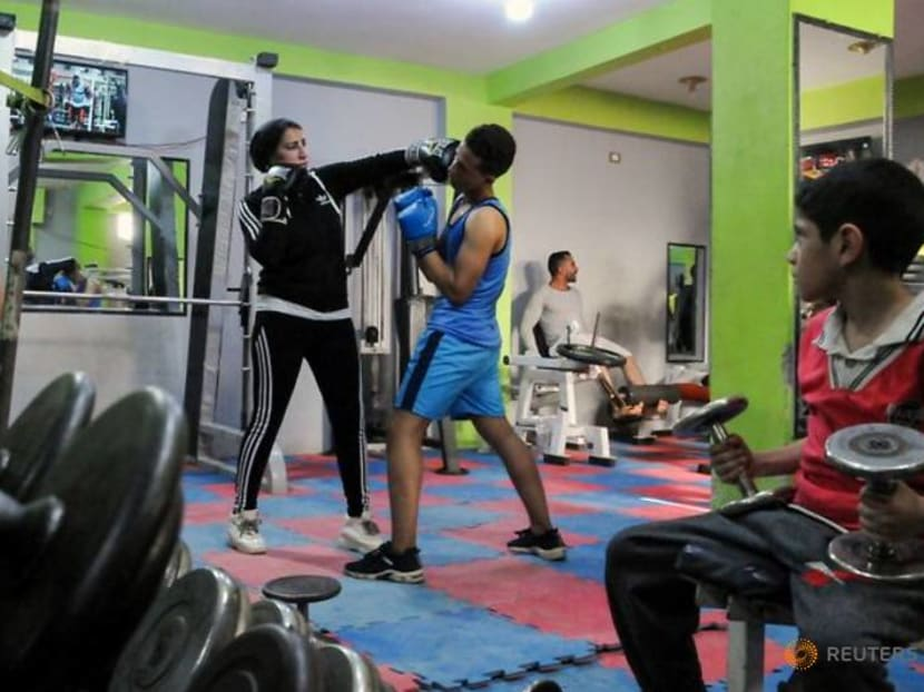Woman trains men to box in Egyptian agricultural heartland