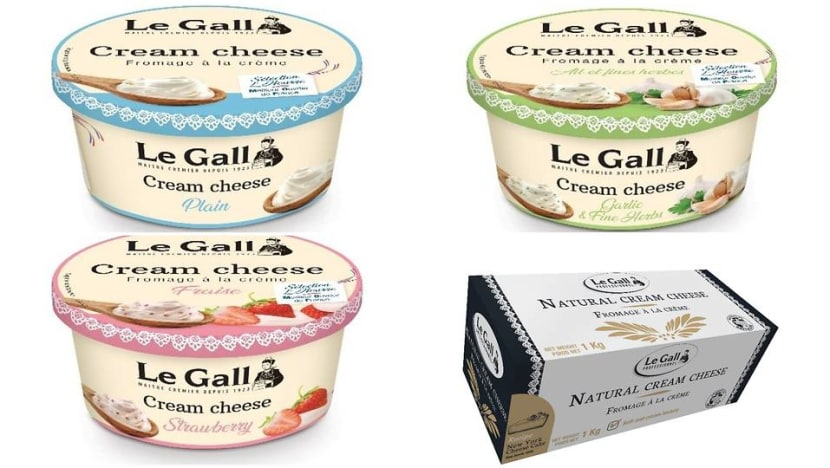 SFA recalls Le Gall cream cheese products due to presence of pesticide