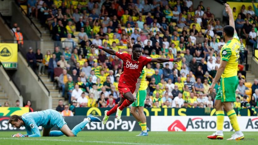 Football: Sarr double for Watford leaves Norwich winless in Premier League