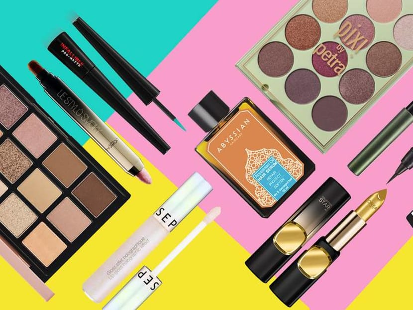 Under S$50 makeup and hairstyling buys: Slick hair, graphic eyes and statement lips