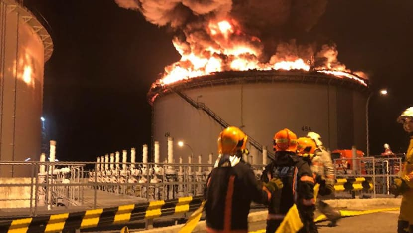 Pulau Busing oil storage tank fire extinguished after 'massive operation': SCDF