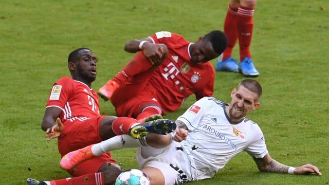 德甲:拜仁慕尼黑1比1踢和柏林联盟