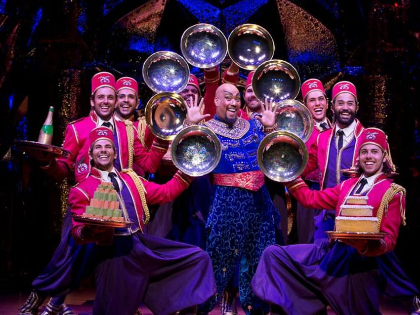 Wish granted: Aladdin The Musical's Genie is loving his chilli crab in Singapore