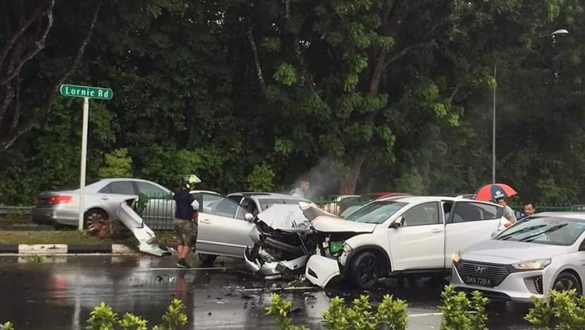 Five people including 9-year-old girl injured in Lornie Road accident