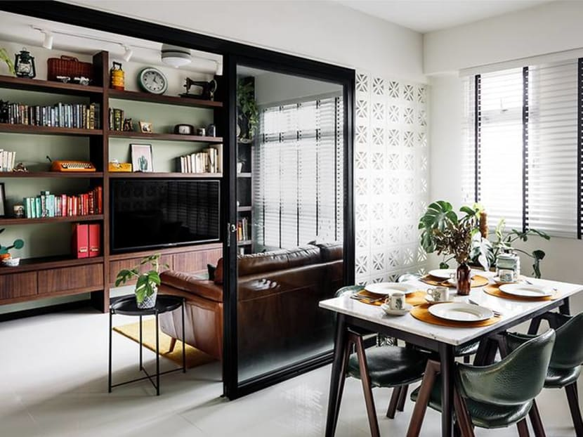 How grandma's Peranakan dresser inspired a 731 sq ft BTO flat that's also a smart home