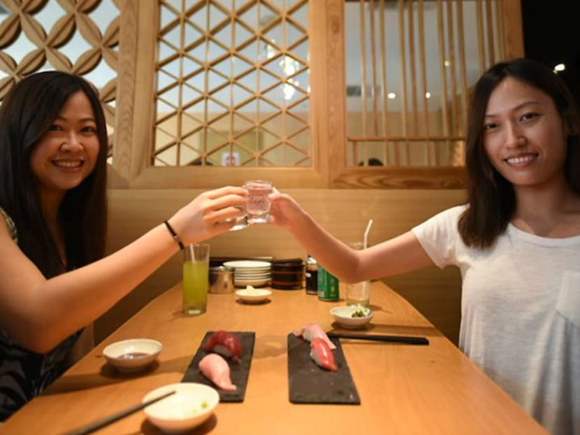 Checking out a sushi and sake pairing – and an ice kacang 'rainbow' cocktail
